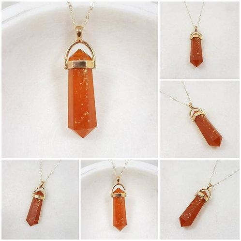 Crystal Rock Memorial Ash Necklace/Cremation Necklace/Pet Memorial/Ash Jewelry/