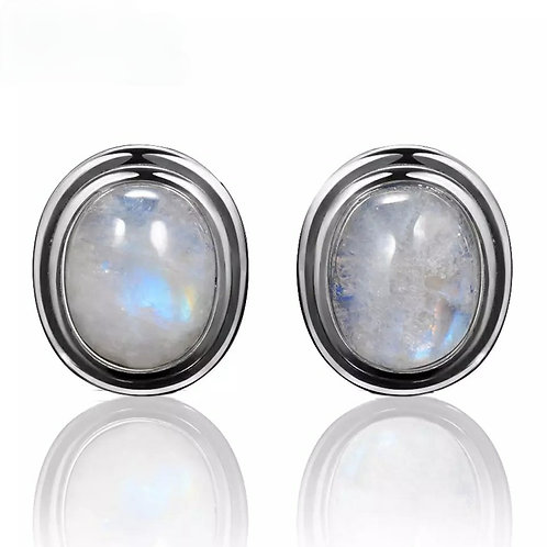 Memorial Cremation Sterling Silver Moonstone Earrings
