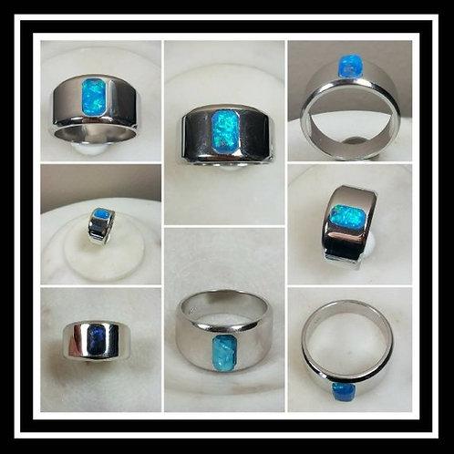 Mens Memorial Ash Sterling Silver Ring