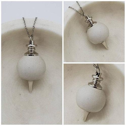 Memorial Ash Concrete Pendulum Necklace/Cremation Necklace/Pet Memorial Jewelry