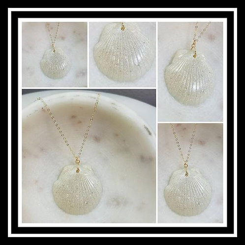 Memorial Ash Cremation Shell Pendant