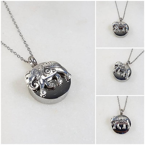 Memorial Ash Stainless Steel Cremation Elephant Urn Necklace/Cremation Pendant/C