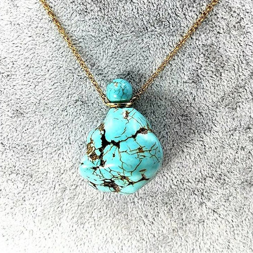 Memorial Ash Turquoise Cremation Urn Necklace/Cremation Pendant/Cremation