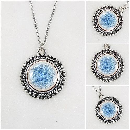 Memorial Ash Ceramic Pendant Necklace/Cremation Necklace/Pet Memorial Jewelry Cr