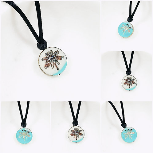 Studiodragonfly19 Cremation Czech Glass Dragonfly Memorial Ash Pendant