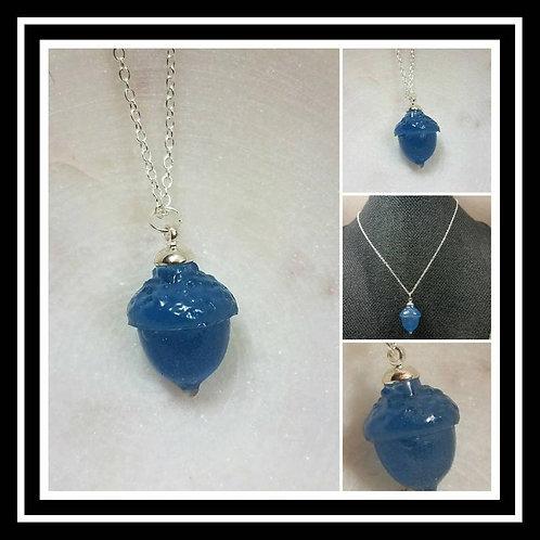 Acorn Memorial Ash Pendant Necklace/ Memorial Ash Jewelry Pet Memorial Jewelry/