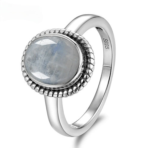 Cremation Sterling Silver Moonstone Ring