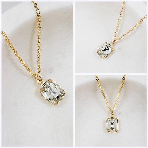 Studiodragonfly19 Cremation Vintage Crystal Stone Memorial Ash Necklace