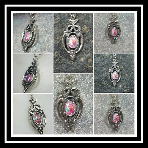 Memorial Ash Sterling Silver Oval Victorian Pendant Necklace
