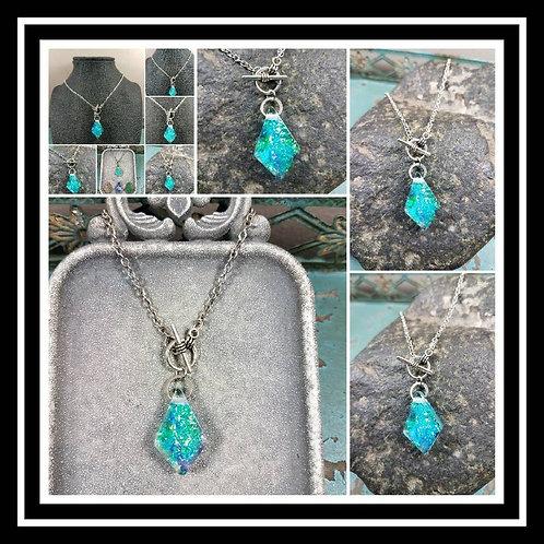Memorial Ash Necklace/Cremation Necklace/Pet Memorial/Ash Jewelry/100+Color Opti