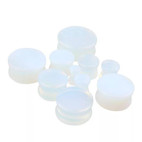 Cremation Memorial Ash Natural Opal Tunnle Ear Plugs Piercing/Memorial Jewelry/P
