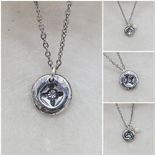 Memorial Ash Celtic Pendant Necklace/Precious Pure Silver Pendant Necklace