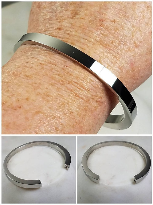 Memorial Personalized Stainless Steel Engraved Urn Cremation Bracelet/Pet Memori