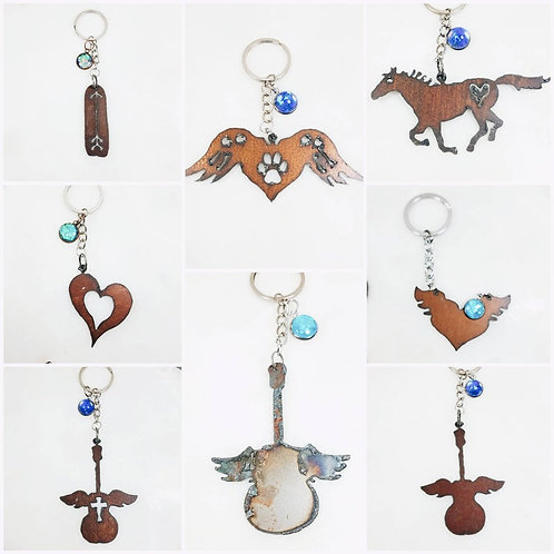 Memorial Ash Rustic Keychain/Cremation Keychain/Pet Memorial Bracelet/Over 80