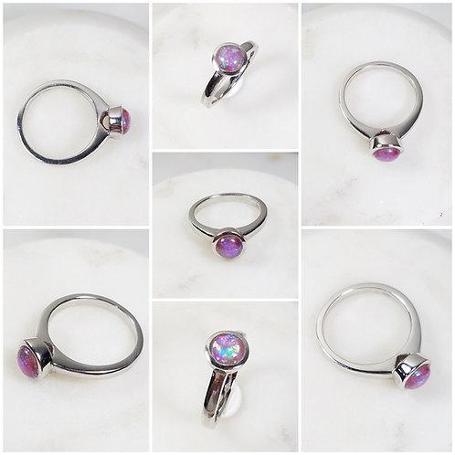 Memorial Ash Sterling Silver Bezel Ring/ Memorial Ash JewelryPet Memorial Jewelr
