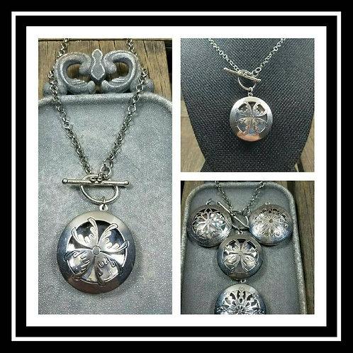 Memorial Ash Locket Pendant Necklace/Cremation Pendant/Pet Memorial Jewelry/Crem