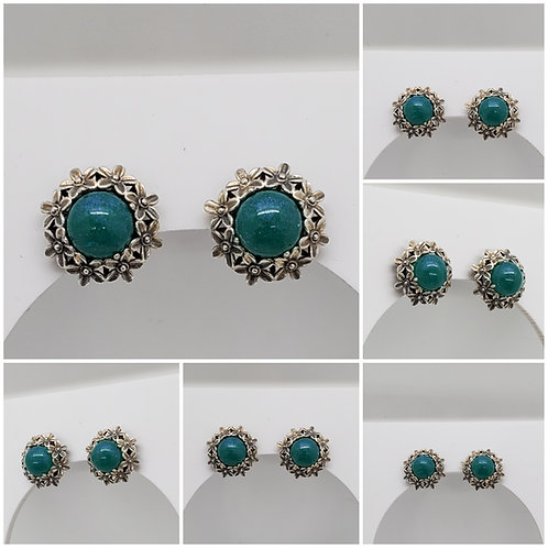 Sterling Silver Daisy Memorial Ash Earrings