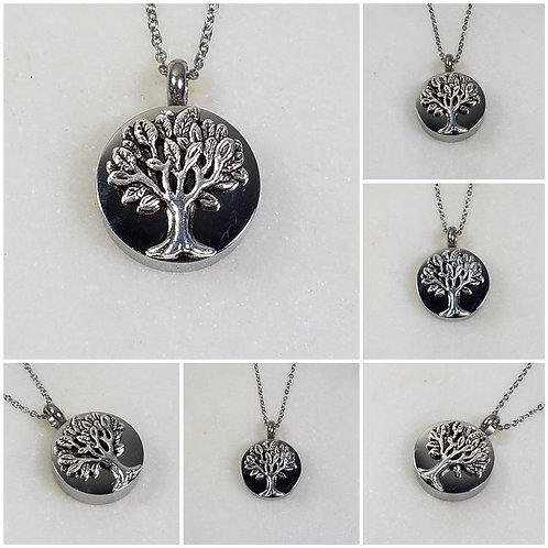 Memorial Ash Stainless Steel Cremation Tree of Life Urn Necklace/Cremation Penda