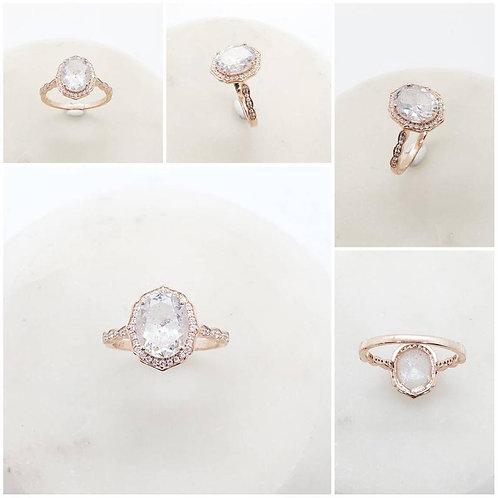 Studiodragonfly19 Memorial Ash Gold Oval Diamond/Memorial Ash JewelryPet Memoria