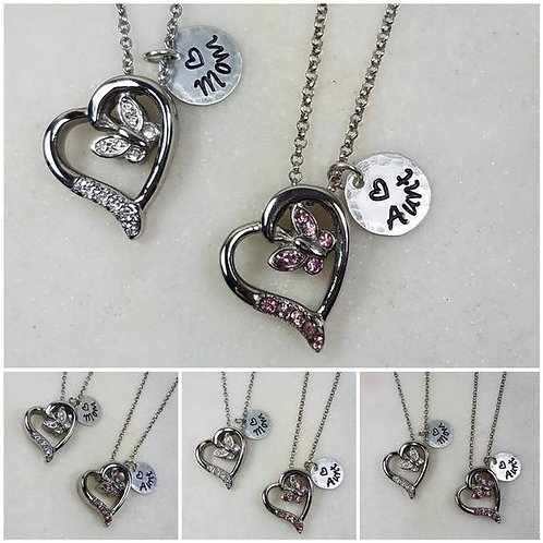 Stainless Steel Memorial Ash Heart Urn Necklace