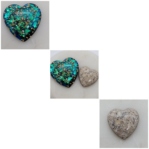 Memorial Ash Large Heart Stones/Memorial Ash Heart Stone/Ash Stones/Pet