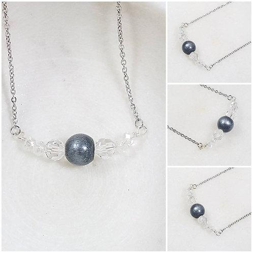 Memorial Ash Ornate Necklace/Cremation Pendant/ Pet Memorial Jewelry/ Memorial J