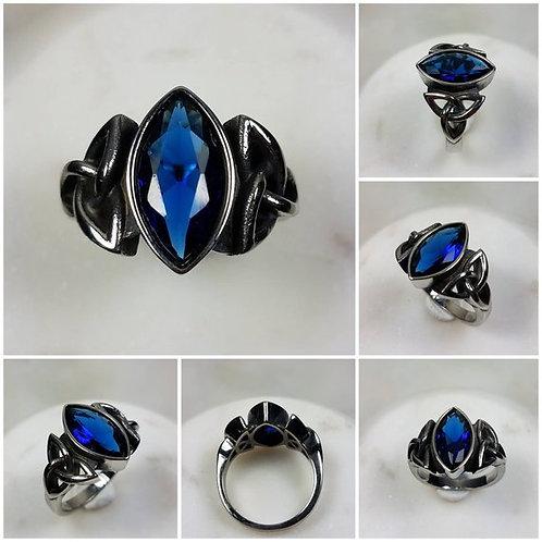 Studiodragonfly19 Memorial Ash Blue Chalcedony Sterling Silver Earrings