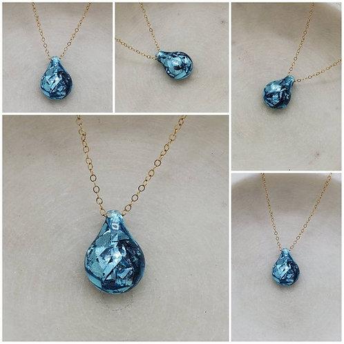 Memorial Ash Round Necklace/Cremation Pendant/ Pet Memorial Jewelry/ Memorial