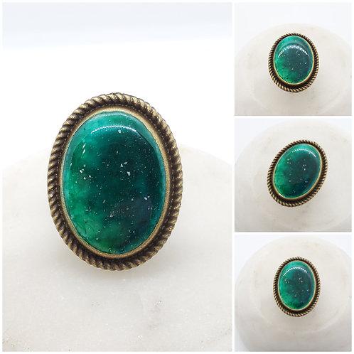 Cremation Bronze Braided Galaxy Ring