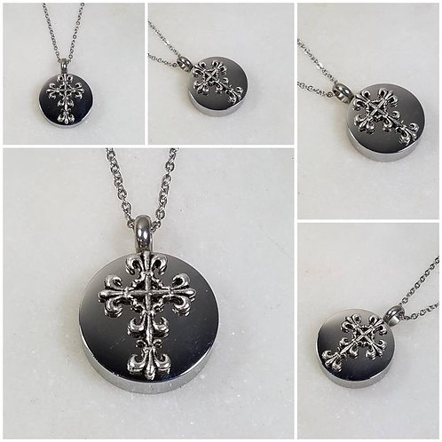 Memorial Ash Stainless Steel Cremation Cross Urn Necklace/Cremation Pendant/Crem