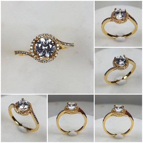 Studiodragonfly19 Memorial Ash Solitare 10kt CZ Diamond Cremation Ring