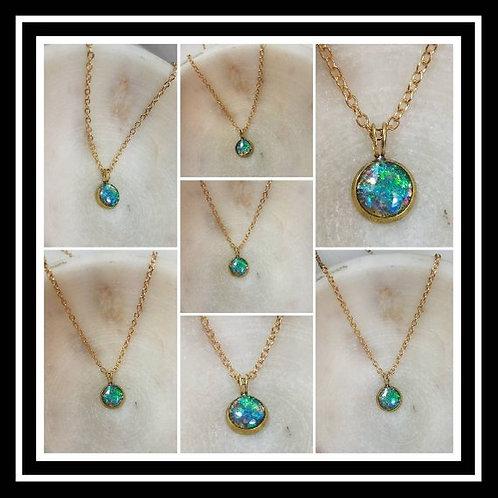 Memorial Ash Raw Brass Pendant Necklace/Cremation Pendant/ Pet Memorial Jewelry