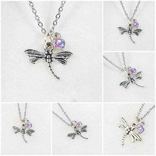 Cremation Dragonfly Memorial Pendant/Ash Memorial Necklace/Pet Memorial/Crematio