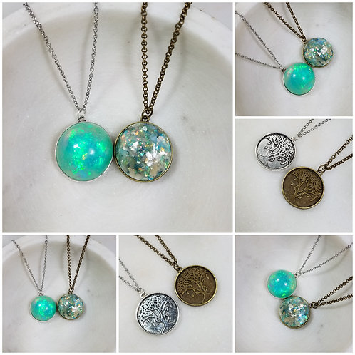 Memorial Ash Tree Necklace/Cremation Pendant/ Pet Memorial Jewelry/ Memorial Jew
