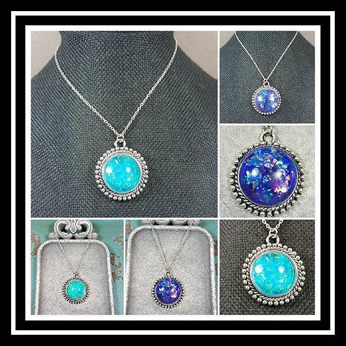 Memorial Ash Necklace/Cremation Pendant/ Pet Memorial Jewelry/ Memorial Jewelry/