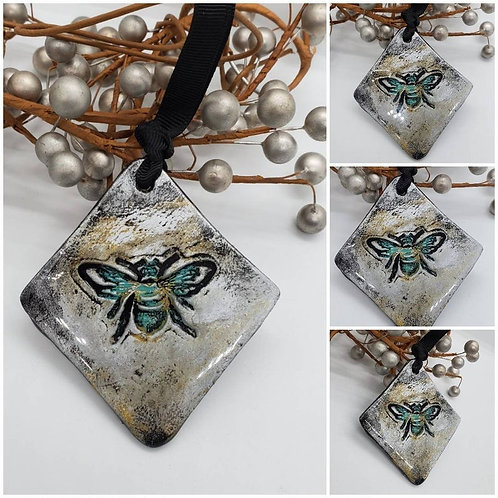 Cremation Memorial Ash Bee Holiday Ornament/Essential Oil Ornament