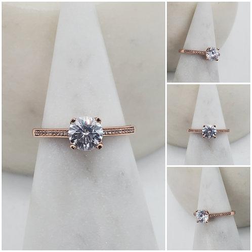Studiodragonfly19 Memorial Ash Round 10kt CZ Diamond Ring