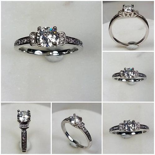 Studiodragonfly19 Gem Memorial Ash Solitare 10kt CZ Diamond Cremation Ring