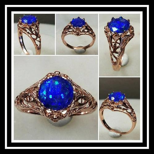 Memorial Ash Rose Gold Filled Vintage Ring /Memorial Ash Cremation Ring/Pet