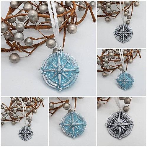 Memorial Cremation Ash Compass Ornament/Memorial Compass/Cremation Ornament