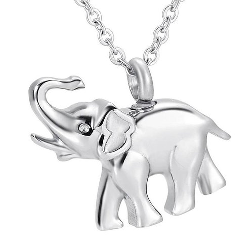 Memorial Ash Stainless Steel Cremation Praying Elephant Urn Necklace/ Pendant/Cr