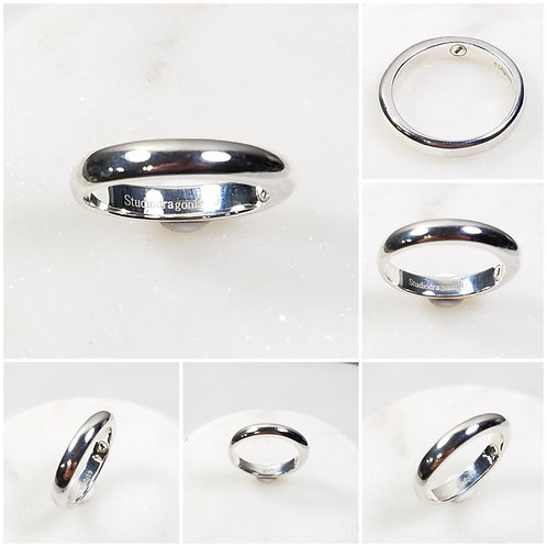 Memorial Ash Sterling Silver Cremation Urn Band Ring