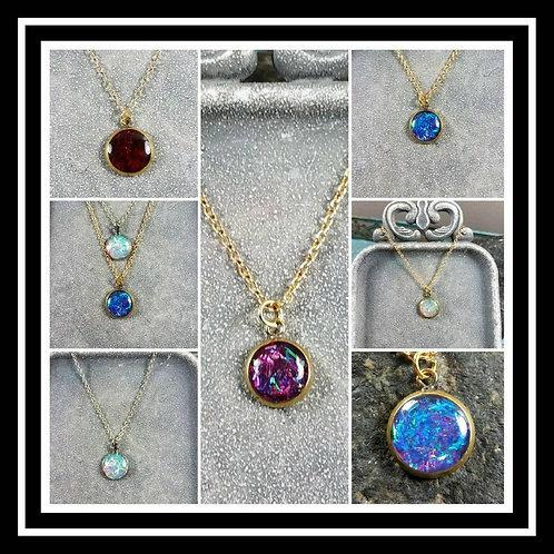 Memorial Ash Pendant Necklace/ Memorial Jewelry/ Ash Necklace/Pet Memorial/Crema