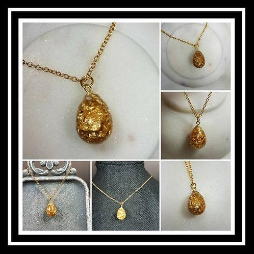 Memorial Ash Gold Filled Drop Necklace