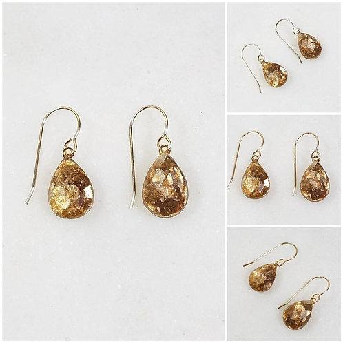 Memorial Ash Faceted Dangle Earrings/Cremation Earring /Ash Earring/ Pet Memoria