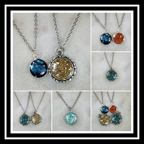 Memorial Ash Cremation Pendant/ Memorial Jewelry/ Ash Necklace/Pet Memorial/ Cre
