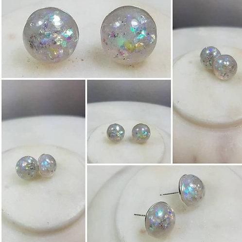 Sterling Silver Plated  Memorial Ash Earrings