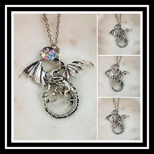 Memorial Ash Dragon Necklace/Cremation Pendant/ Pet Memorial Jewelry/ Memorial J