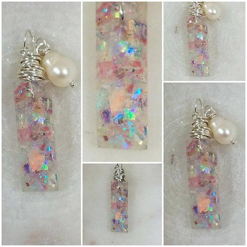 Memorial Ash Faceted Baguette Crystal Pendant