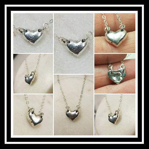Pure Silver Heart Memorial Ash Pendant Necklace